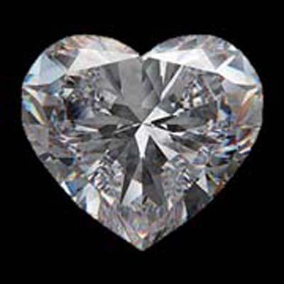 Diamond EGL Certified Heart 1.19 ctw F, SI2