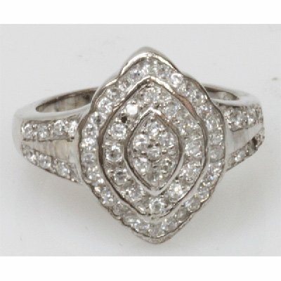 Natural 5.53g CZ Ring .925 Sterling Silver