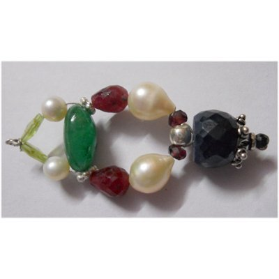 Natural 41.15ct Emerald/Pearl/Ruby/Sapphire Pendant .92