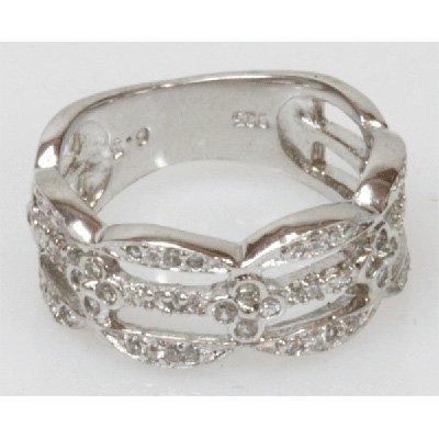 Natural 3.69g CZ Ring .925 Sterling Silver