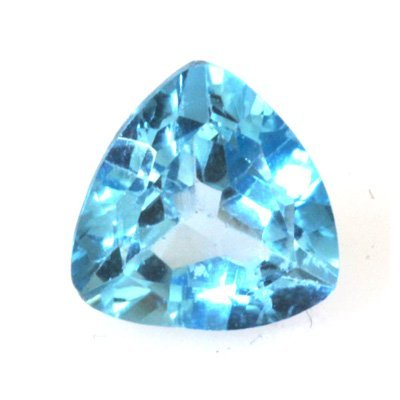 Natural 3.27ctw Blue Topaz Trllion Cut 9x9 Stone