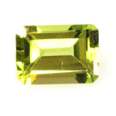 Natural 6.03ctw Peridot Emerald Cut 5x7 (6) Stone