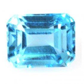 Natural 3.09ctw Blue Topaz Emerald Cut 7x9 Stone