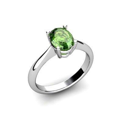 Genuine 2.30 ctw Green Tourmaline Ring 14k W/Y Gold