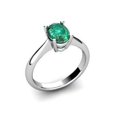 Genuine 1.90 ctw Emerald Ring 14k W/Y Gold