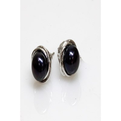 Natural 24.51ct Pearl Earring .925 Sterling