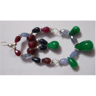 Natural 61.90ct Ruby/Tanzanite/Sapphire/Emerald Pendant