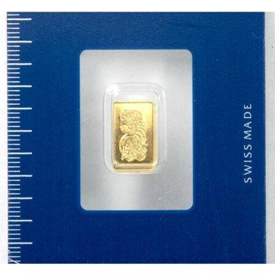 Suisse 1 gram Fine Gold (999.9) Serial No. 432898,24 CT - 2