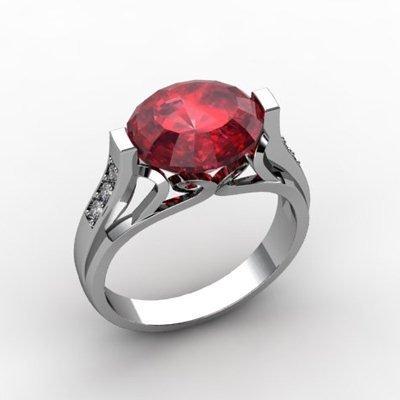 Genuine 6.09 ctw Ruby Ring 14k W/Y Gold