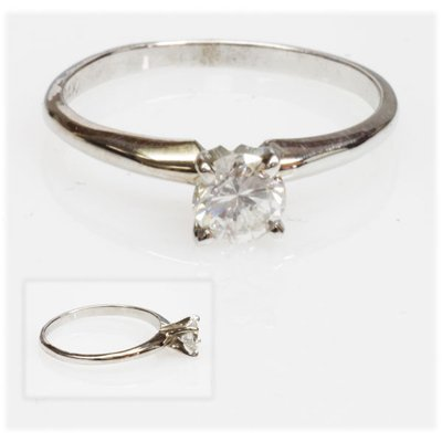 0.5 ctw Certified Diamond 14k Solitaire Ring H-I I-1