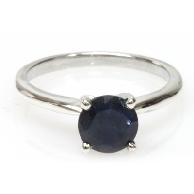 Natural 1.25ctw Sapphire .925 Sterling Silver Ring