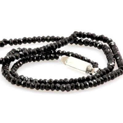 Natural Black Spinal Necklace 49.45ctw with brass clasp
