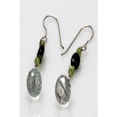 Natural 14.50ct Semi Precious Earrings .925 Sterling