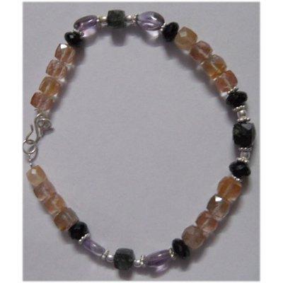 Natural 108.50ct Amethys/Semi Precious Bracelet .925 St