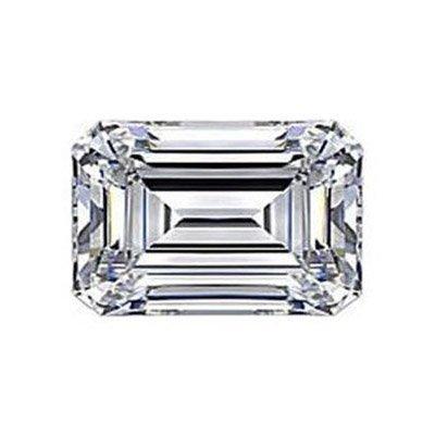 Diamond EGL Cert. Emerald 0.62 ct D, VVS2