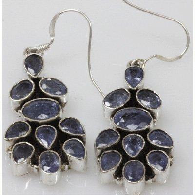 Natural 9.97g Tanzanite Earrings .925 Sterling Silver