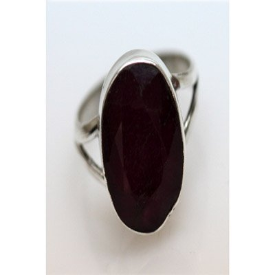 Natural 20.04 ctw Hazonight Garnet Oval Ring .925 Sterl