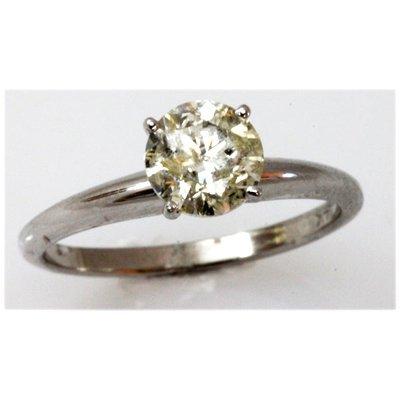 Diamond 1.1 ctw Solitaire 14k White Gold