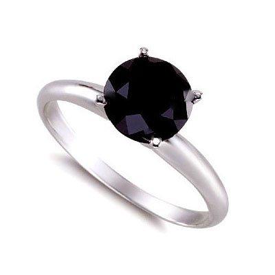 Genuine  Black Diamond 1.0 ctw Ring 14K W/Y Gold