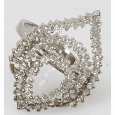 Natural 4.85g CZ Ring .925 Sterling Silver