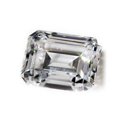 Diamond GIA Certified Emerald 0.50 ctw D,VS1