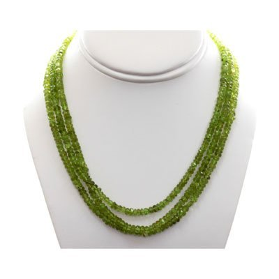Natural Emerald Round 186.77 CTS. Beads Necklace w/bras
