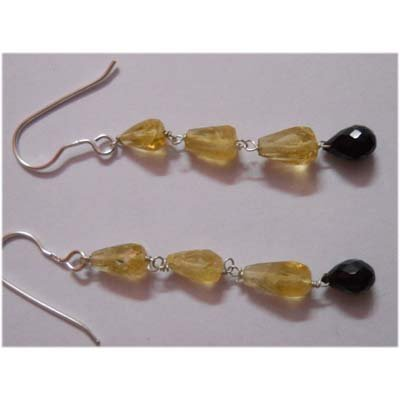 Natural 14.35 ctw Semi Precious Earring .925 Sterling
