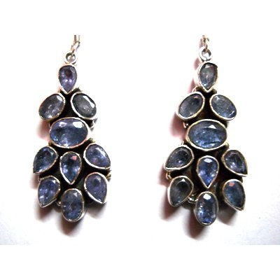 Natural 13.77g Tanzanite .925 Sterling Silver Earrings