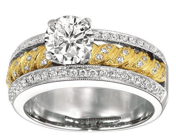 GENUINE 0.40 CTW DIAMOND RING 14K GOLD