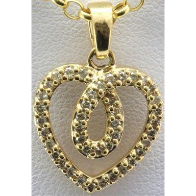 Genuine 0.38 ctw Diamond Heart Pendant 14k Y Gold