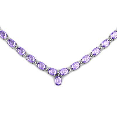 Natural Tanzanite 55.35ctw Oval Necklace .925 Sterling