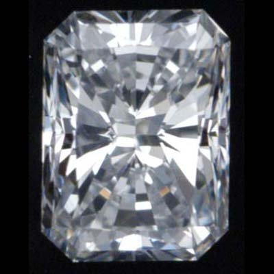 Diamond GIA Certified Rect. Mod Brilliant 0.52 ct D,VS1