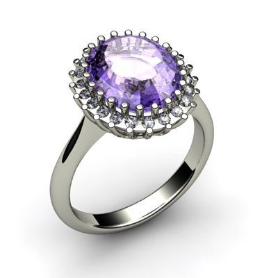 Tanzanite 5.72 ctw & Diamond Ring 14kt W/Y Gold