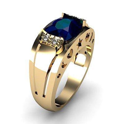 Genuine 2.80 ctw Sapphire Ring 14k 4g, RS 7