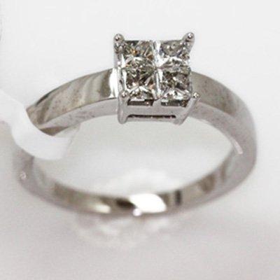 4.23g 14k White Gold Diamond Ring