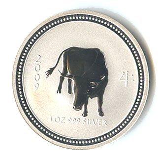 Australian Lunar Silver 1 oz Silver 2009 Ox