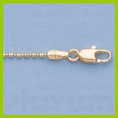 "Genuine 16"" 14k Gold-Yellow 1.3mm Double Bead Chain"