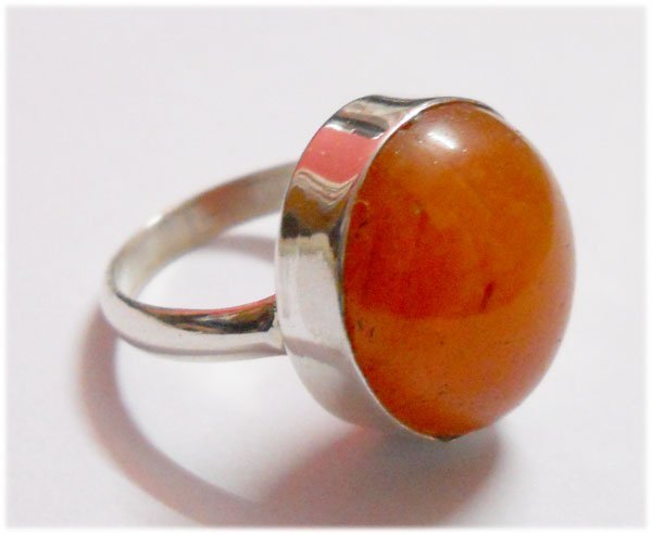 NATURAL 47.30 CTW SUSUNITE ROUND RING .925 STERLING SIL