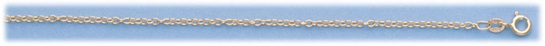 "GENUINE 16"" 14K ITALIAN GOLD OVAL LINK CHAIN"