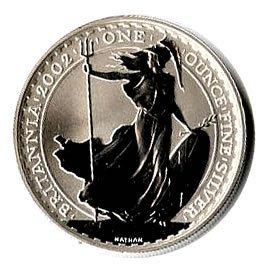 Silver Britannia One Ounce 2002