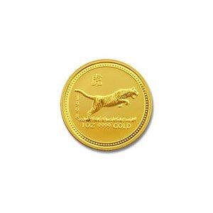 Australian Lunar Gold Twentieth Ounce Gold 1998 Tiger