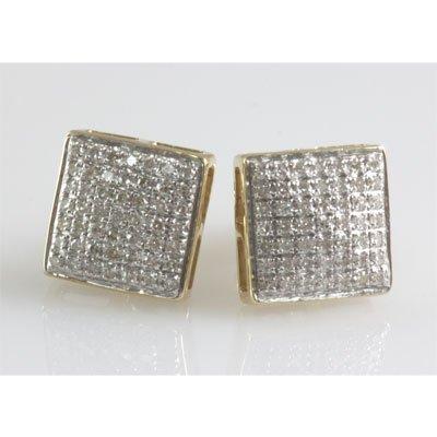 Genuine 0.37 ctw Round Cut Diamond Screw Back Earring