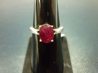 NATURAL 13.00 CTW RUBY RING .925 STERLING SILVER
