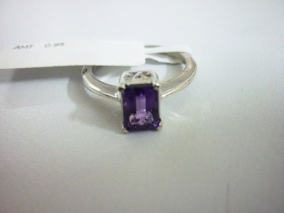 NATURAL 11.00 CTW AMETHYST RING .925 STERLING SILVER