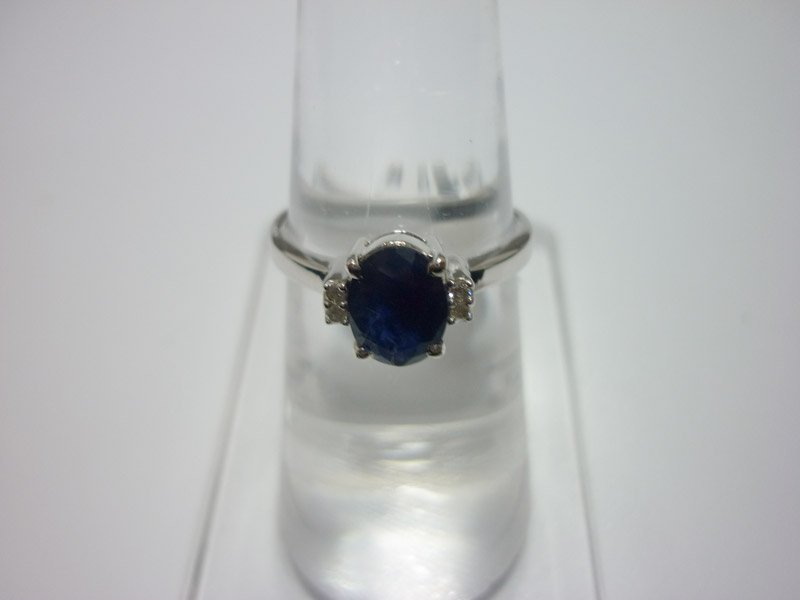 NATURAL 10.25 CTW SAPPHIRE AND DIAMOND RING .925 STERLI