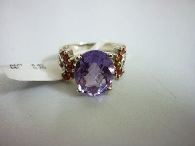NATURAL 29.5 CTW SEMI PRECIOUS RING .925 STERLING SILVE