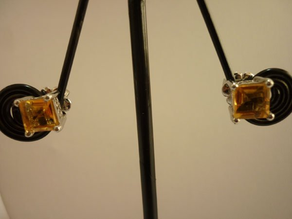 12.75 CTW CITRINE EARRING .925 STERLING SILVER