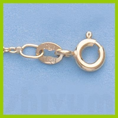 """Genuine 16"""" 14k  Gold-Yellow  1.3mm Oval Link Chain"""