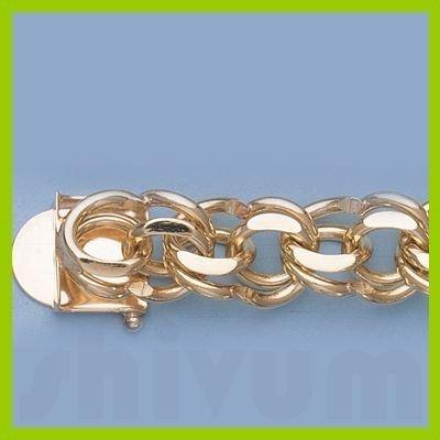 "Genuine 7.25"" 14k  Gold-Yellow 11.6mm Charm Bracelets"