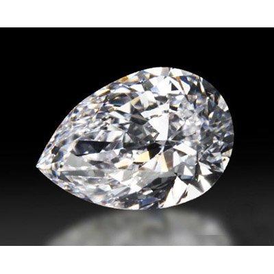Diamond GIA Cert. Pear 0.72 ctw D, SI1